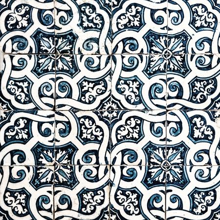 portuguese: Azulejos, traditional Portuguese tiles Stock Photo