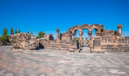 armenia: The ruins of the ancient temple of Zvartnots, Armenia Stock Photo