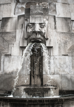 sculpture: Face Fountain, Milano Centrale station, Milan, Italy