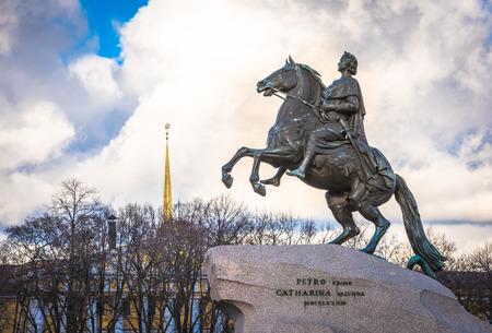 uomo a cavallo: Monumento di Cavaliere di bronzo, San Pietroburgo, Russia (1782)