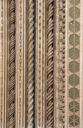 terni: Detail of Orvieto Cathedral (Duomo di Orvieto), Umbria, Italy