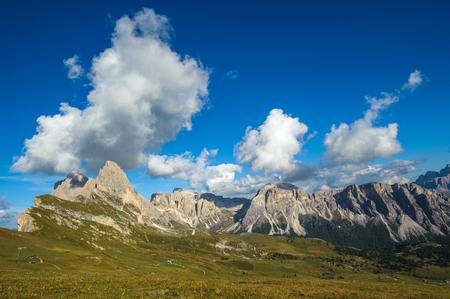 odle: Seceda peak, Odle mountain range, Gardena Valley, Dolomites, Italy Stock Photo