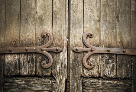 old doors: ancient wooden doors Stock Photo