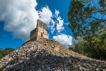yucatan: El Mirador mayan pyramid, Labna ruins, Yucatan, Mexico Stock Photo