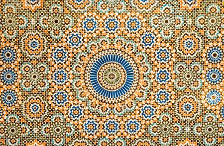 vintage patterns: moroccan tile background