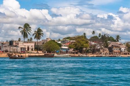 Lamu old town waterfront, Kenya, UNESCO World Heritage site Zdjęcie Seryjne