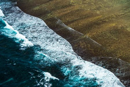 Aerial view of ocean surf Stock Photo