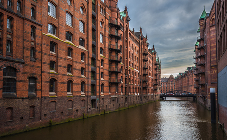 Old Speicherstadt or Warehouse district, Hamburg, Germany
