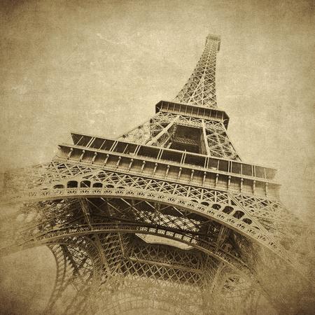 Jahrgang Bild von Eiffelturm, Paris, Frankreich