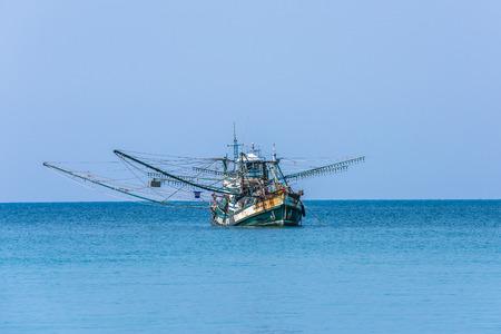 Traditional thai fishing boat, Koh Kood island, Thailand Stock Photo