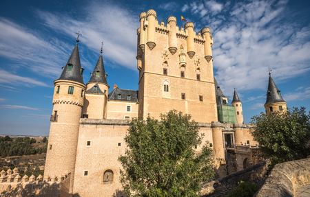 castile leon: The Alcazar of Segovia, Spain