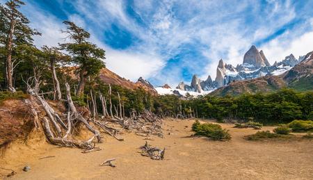 roy: Fitz Roy mountain, El Chalten, Patagonia, Argentina Stock Photo