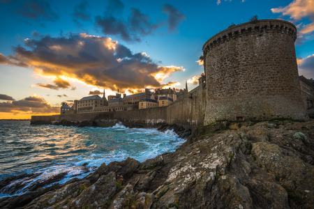 Saint-Malo, historic walled city in Brittany, France