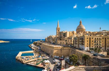 View of Valletta, the capital of Malta 스톡 콘텐츠