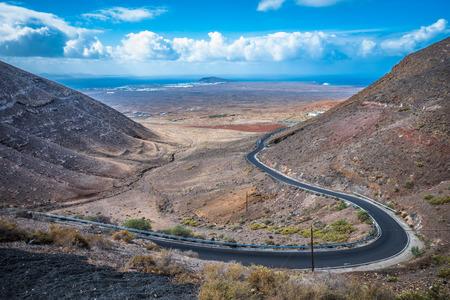 View from the Mirador de Femes in Lanzarote, Canary Islands, Spain Stock fotó
