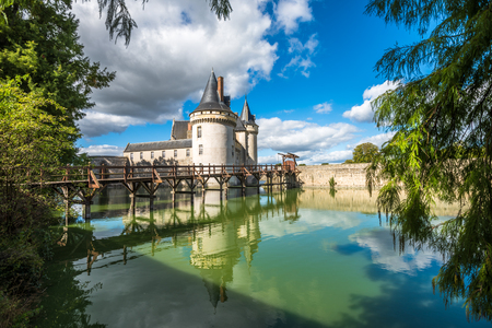Castle above the canal Stok Fotoğraf