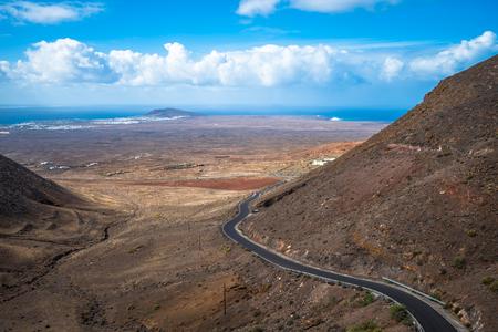 View from the Mirador de Femes in Lanzarote, Canary Islands, Spain
