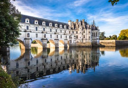 Chateau de Chenonceau on the Cher River, Loire Valley, France Standard-Bild