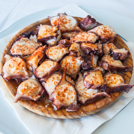 Galician style octopus, pulpo a la gallega