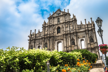 The Ruins of St. Pauls in Macau, China. Stock Photo