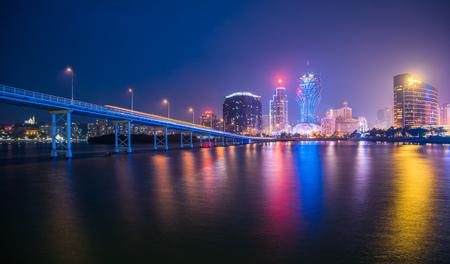 Macau city skyline at night 写真素材