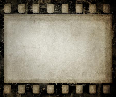 Fond de film grunge. Belle texture vintage avec un espace pour le texte ou l'image. Banque d'images