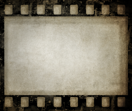Sfondo di pellicola grunge. Bella trama vintage con spazio per testo o immagine. Archivio Fotografico