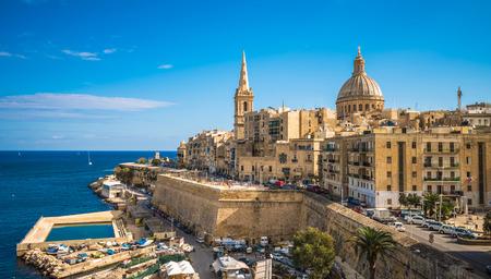 View of Valletta, the capital of Malta Stockfoto