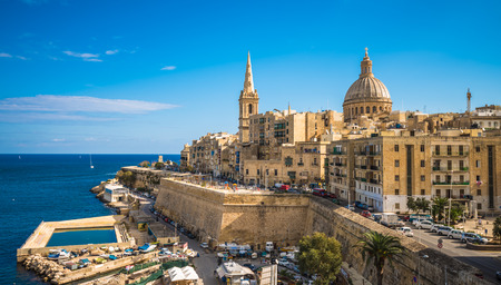 View of Valletta, the capital of Malta 免版税图像