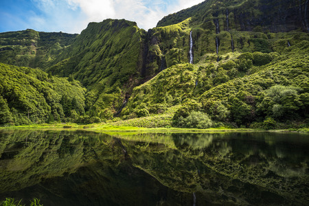 Poco da Ribeira do Ferreiro, Flores island, Azores, Portugal. Stock Photo