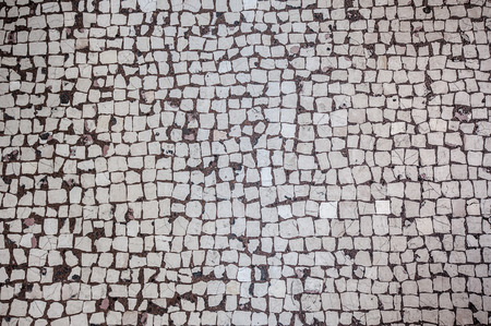 Abstract background of old cobblestone pavement Stockfoto