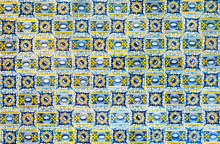 vintage ceramic tiles background, perfect colorful pattern