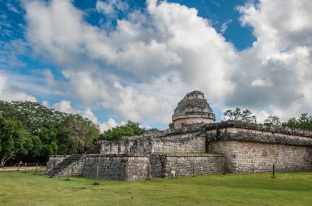 Mayan observatory El Caracol ruin at Chichen Itza, Yucatan, Mexico
