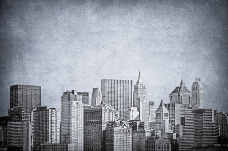 Vintage image of New York City skyline Stock Photo