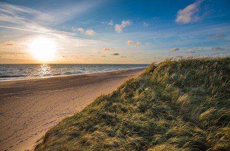 North sea beach, Jutland coast in Denmark Imagens