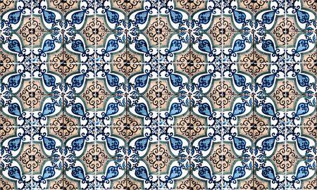 Sfondo di piastrelle di ceramica vintage