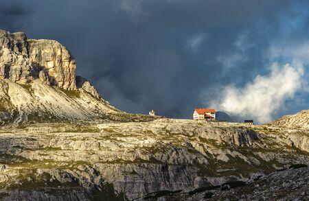 Three peaks. National Park Tre Cime di Lavaredo. Dolomites, South Tyrol, Italy
