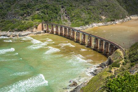 Kaaimans River Railway Bridge, Wilderness, Garden Route, South Africa Stock fotó