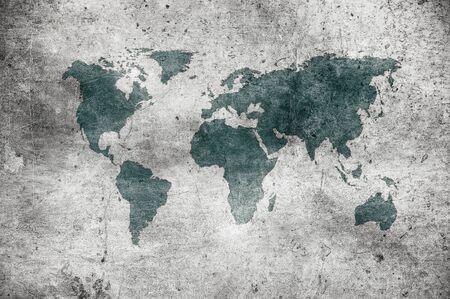 grunge mapa świata