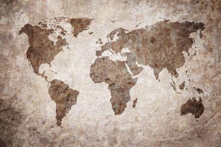 grunge map of the world Reklamní fotografie