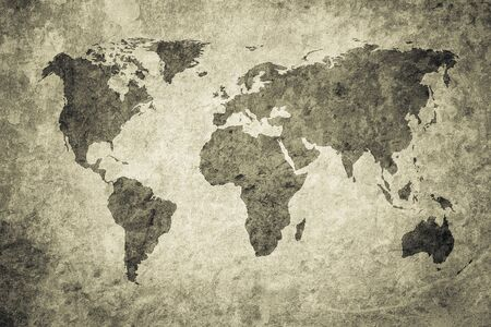 Grunge-Karte der Welt