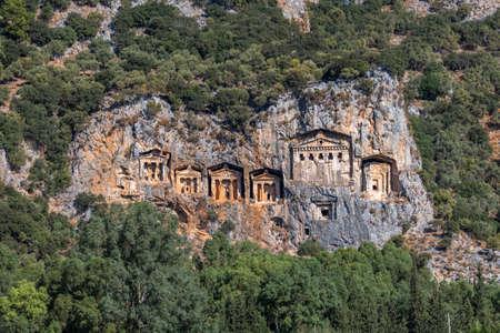 Kings Tombs of Kaunos near Dalyan, Turkey.