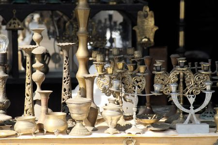 Antiques in jerusalem east market in israel - middle east old things