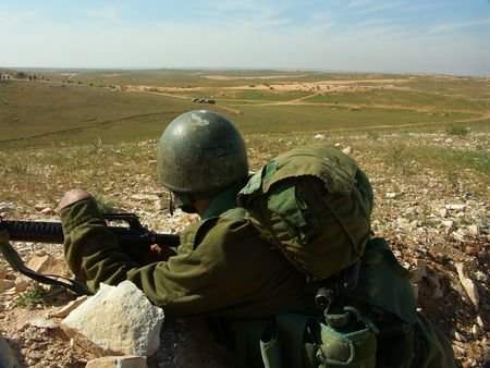 Israeli soldier exercise photo