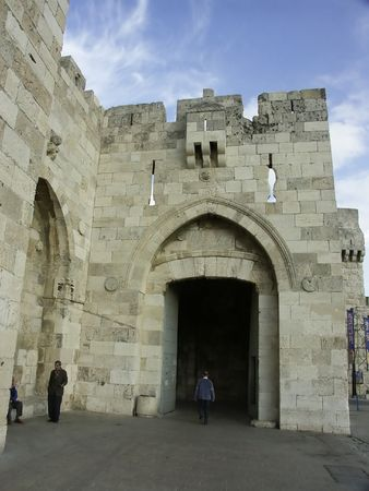jaffa gate in jerusalem old city Stock Photo