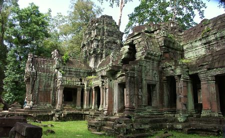 Cambodia temples - angkor wat - tourist site Stock Photo