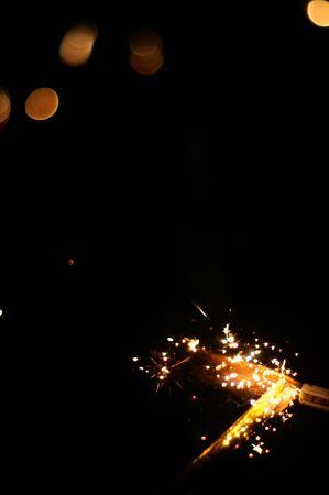 Firework on black background Stock Photo - 571858