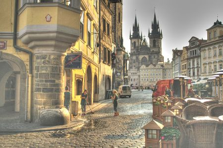 Mystic and beautiful prague square - tourist paradise