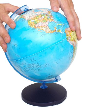 handling the globe, pacific, america photo