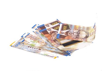 israel shekels banknotes, 100 nis Stock Photo